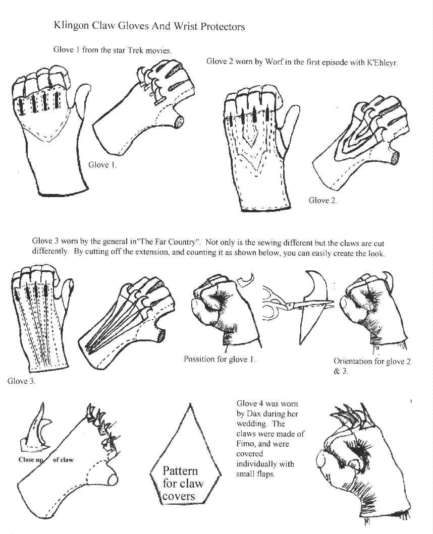Glove Sewing Pattern Cool Design Inspiration
